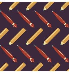 Pen set seamless pattern vector image