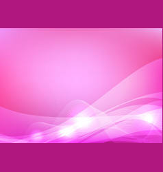pink wave abstract background graphic design vector image vector image