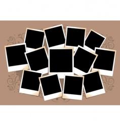 polaroid frame vector image vector image