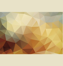 Polygon background bronze gold vector