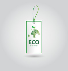 realistic eco banner design vector image vector image