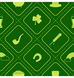 Seamless background with saint patricks day icons vector