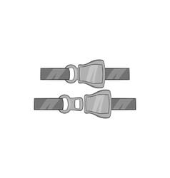 Seat belt icon black monochrome style vector
