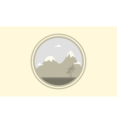 Silhouette of mountain winter scenery vector