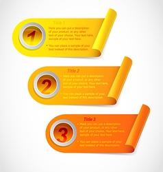 Three step information stickers vector