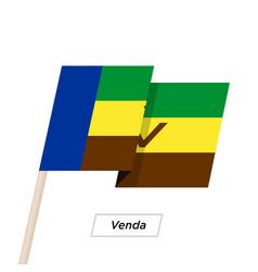 Venda ribbon waving flag isolated on white vector