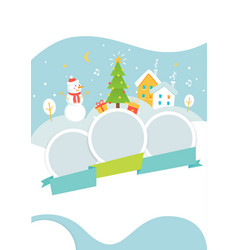 winter holidays events poster template with snowy vector image