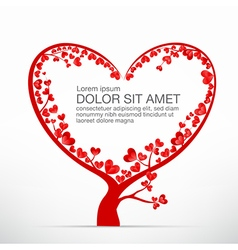 004 heart tree element for valentine day and vector