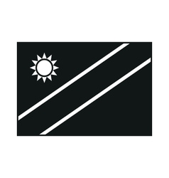 High detailed flag of namibia monochrome on white vector
