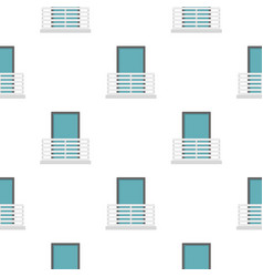 White balcony with window pattern flat vector