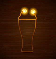 Abstract beer glass vector
