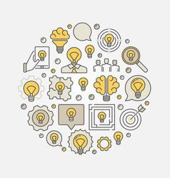 Colorful business idea vector