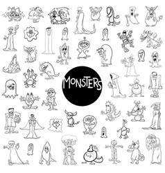 monster characters big set vector image