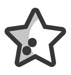 Line shiny star in the sky art vector