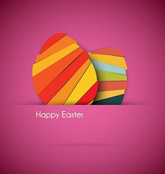 purple Paper easter egg card vector image