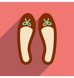 Flat icon with long shadow woman shoes vector