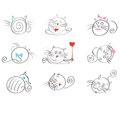 Cats happy vector
