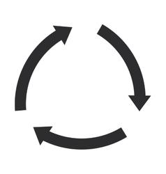 Circular arrows icon vector