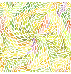 colorful leaves pattern vector image vector image
