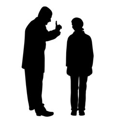 father scolds his scared teenage daughter vector image