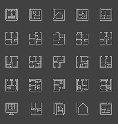 Floor plan icons vector