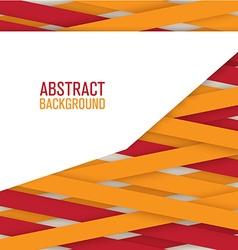Geometric ribbon background vector image vector image