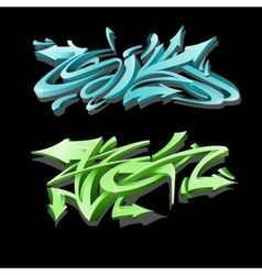 Graffiti lettering on black background Street art vector image