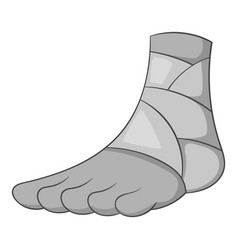 injured ankle icon monochrome vector image