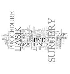 Lasik surgery text background word cloud concept vector