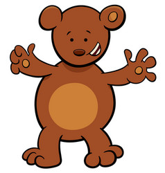 Little bear cartoon character vector