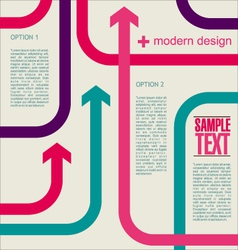 Modern arrow banner vector image vector image