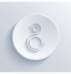 Modern light circle icon vector