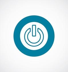 power on icon bold blue circle border vector image