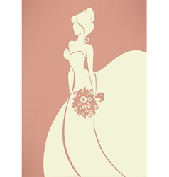 romantic bride vector image vector image