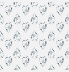 seamless pattern with precious gem diamond vector image