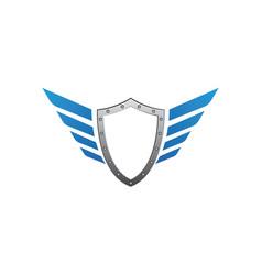 Shield symbol logo template vector