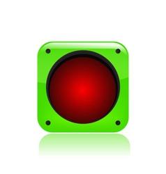 stop icon vector image vector image
