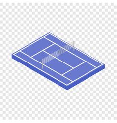 Tennis court isometric icon vector
