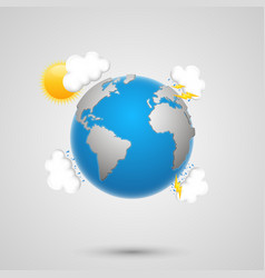 Weather earth vector