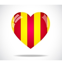 Yellow and red heart vector