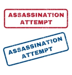 Assassination attempt rubber stamps vector