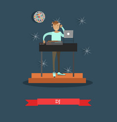 Dj and musical equipment concept vector