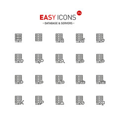 easy icons 20a database vector image