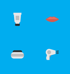 Set of simple elegance icons elements blow-dryer vector
