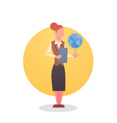 female teacher icon school stuff worker vector image