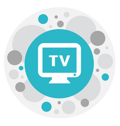 of plaza symbol on tv icon vector image