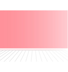 pink wall with white floor interior vector image