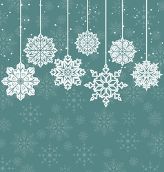 Christmas background with variation snowflakes vector