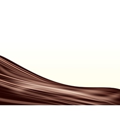Chocolate wave background vector