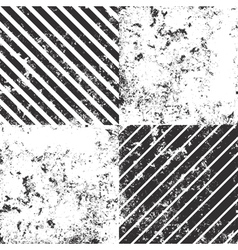 Set of 4 distressed grunge textures vector